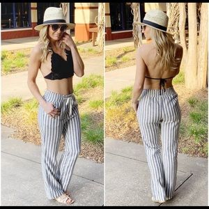 Pants - ✨NWT STRIPED LINEN PANTS✨